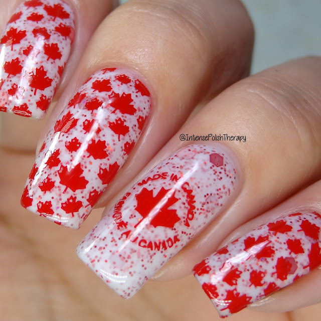 Paint It Pretty Polish - Red, White & Canadian
