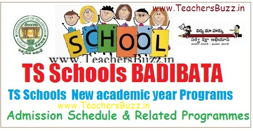 TS Schools Badi Bata- New academic year 2018-19 Admission Schedule, Related Programs