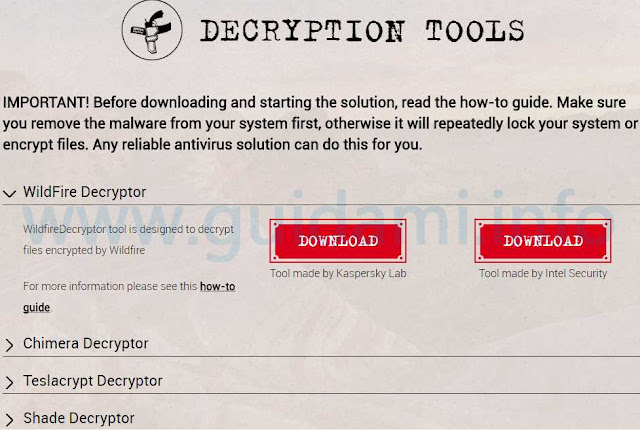 No More Ransomware Decryption Tools