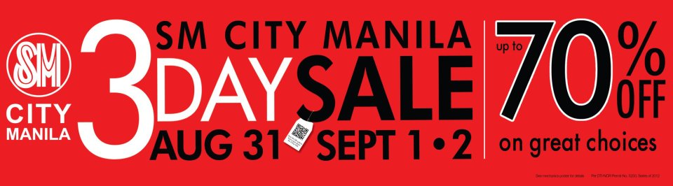 SM 3 Day SALE This Weekend at SM City Manila!