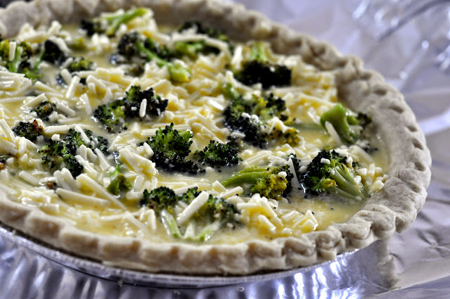 Roasted Broccoli and White Cheddar Quiche | Taste As You Go