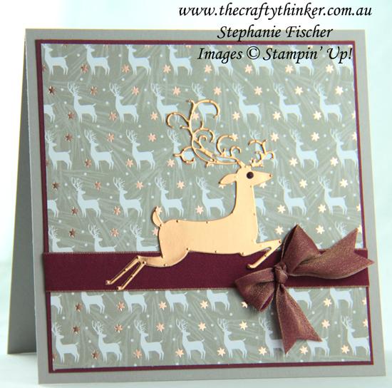 #thecraftythinker #cardmaking  #christmascard  #xmascard  #detaileddeer #cardmaking #stampinup , Christmas card, Xmas card, Detailed Deer, Joyous Noel, Stampin' Up Australia Demonstrator, Stephanie Fischer, Sydney NSW
