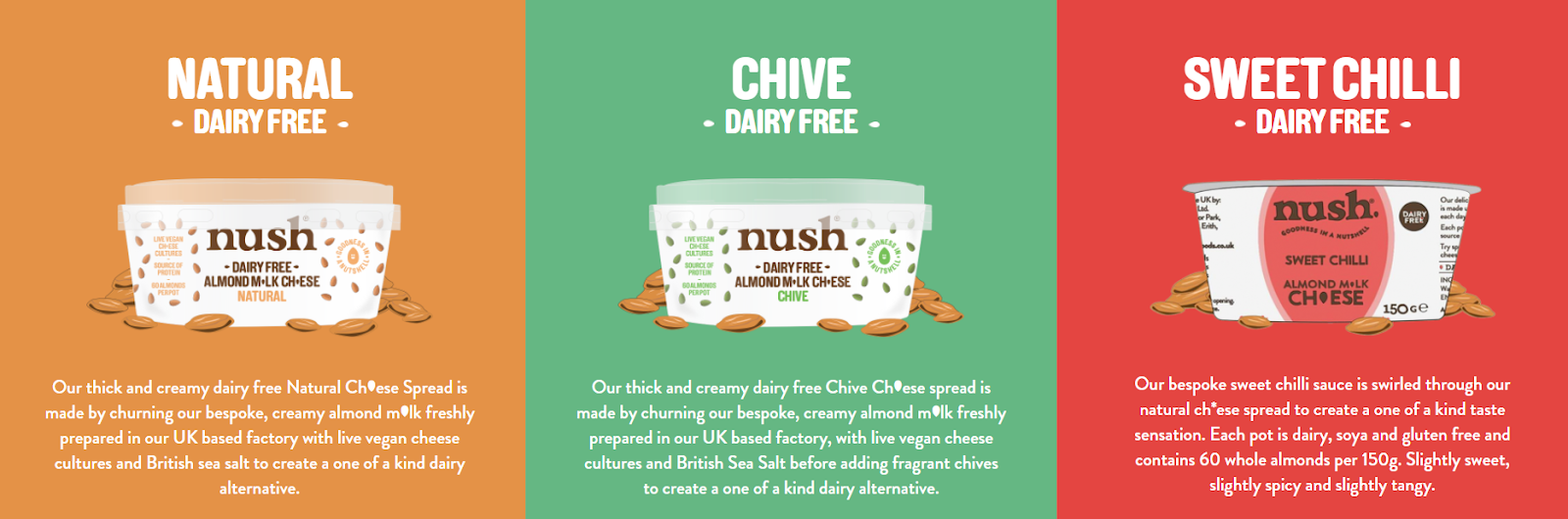 Nush dairy free almond milk cheese