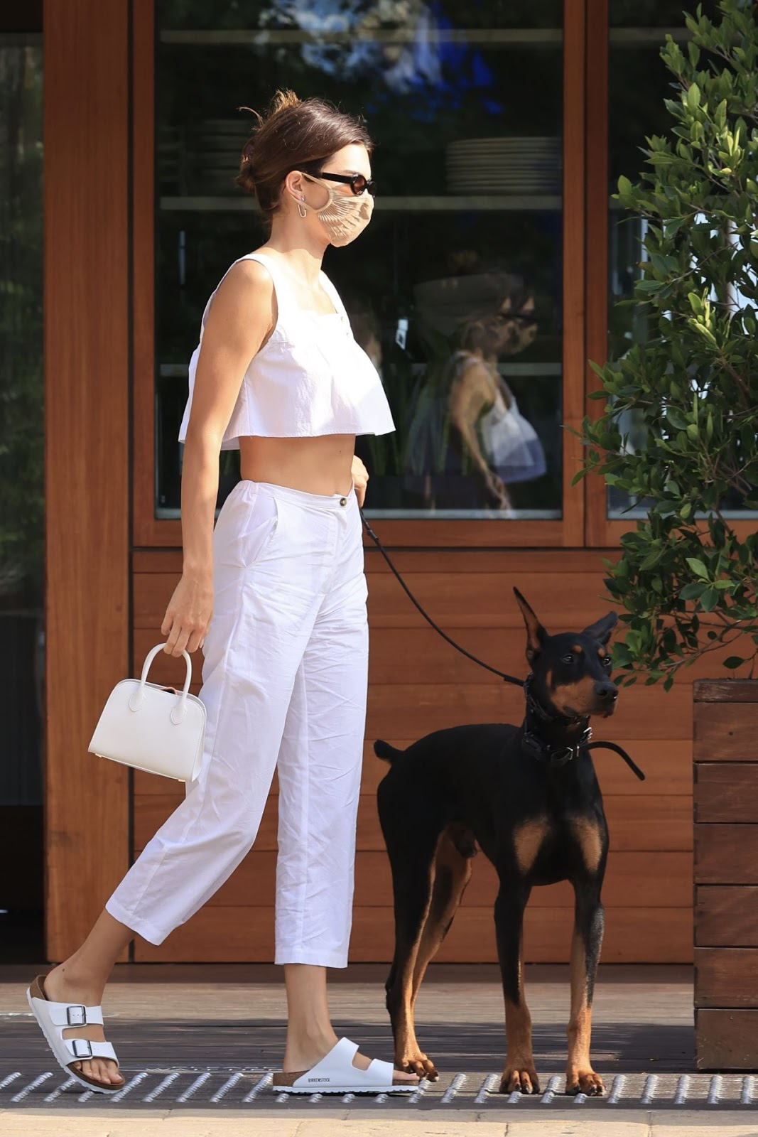 Kendall Jenner flaunts cropped top out and about in Malibu