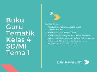 Buku Tematik Kelas 4 SD/MI Tema 1 Edisi Revisi 2017 (Buku Guru)