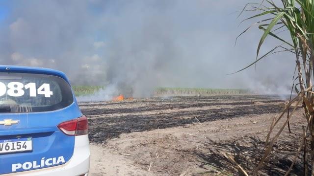 Incêndio em canavial assusta moradores de Barrolândia