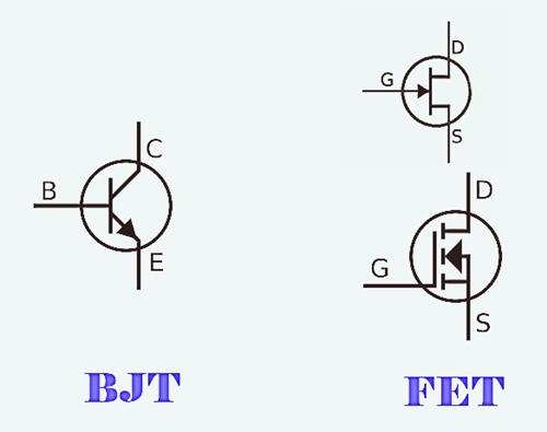 الفرق بين ترانزستور BJT و FET