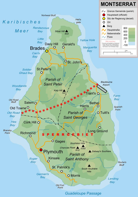 Mapas de Montserrat | Reino Unido