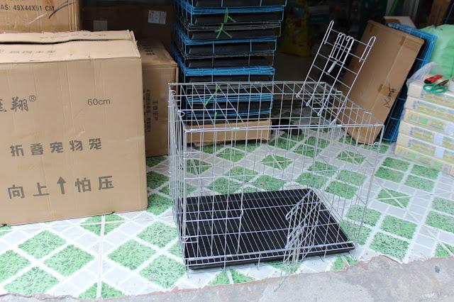 Chuồng sắt sơn tĩnh điện chó mèo