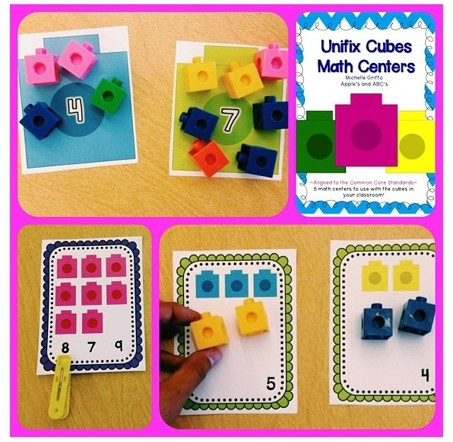 Linking Cubes Math Centers Apples And Abc 39 S