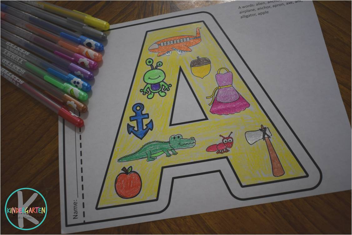 Printable Alphabet Coloring Pages For Toddlers : Kindergarten worksheets and games: free alphabet coloring pages