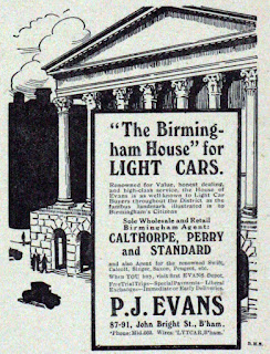 Advert for P J Evans - 1916