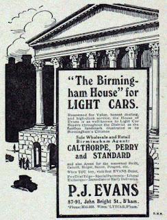Advert for P J Evans - 1916