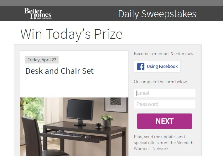 Better Homes And Gardens Daily Sweepstakes Sweepstaking Net A