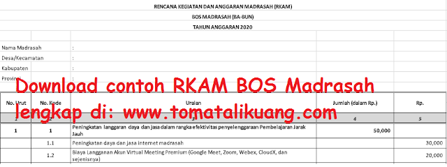contoh rkam bos madrasah ba bun bos madrasah tambahan excel xlsx tomatalikuang.com