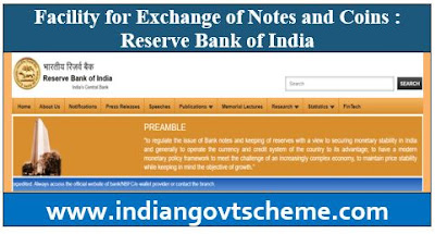 Exchange of Notes and Coins