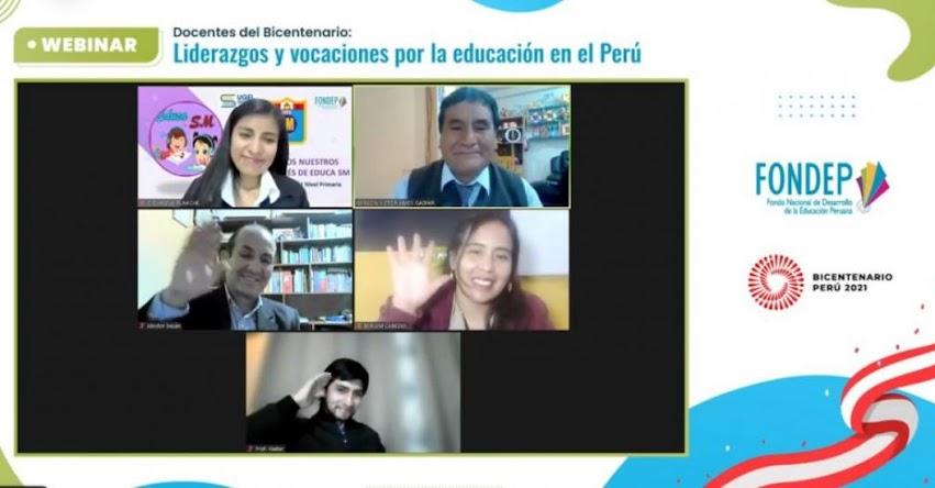 FONDEP: Docentes destacados dialogaron sobre liderazgos y vocaciones por la educación peruana - www.fondep.gob.pe
