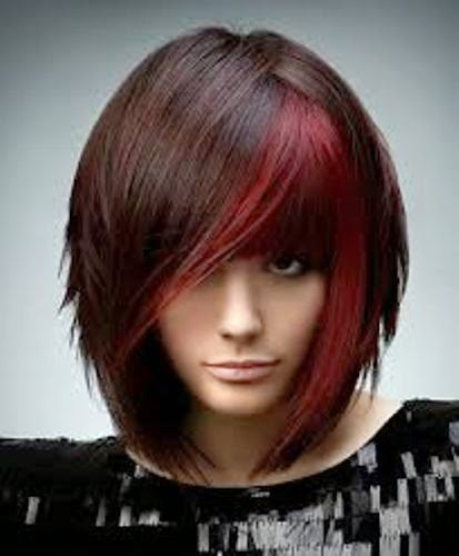 Light Red Violet Brown Hair Color  On Haircuts