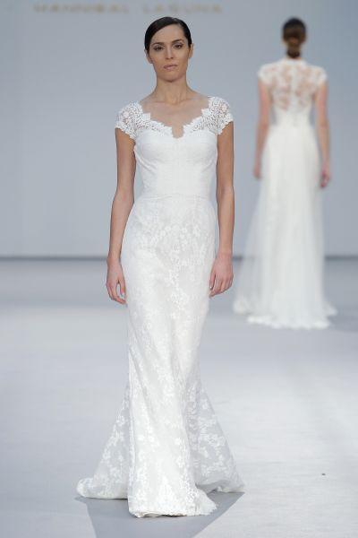 vestidos de novia sencillos color perla