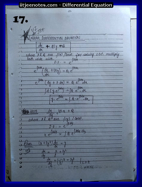 differential equation notes4
