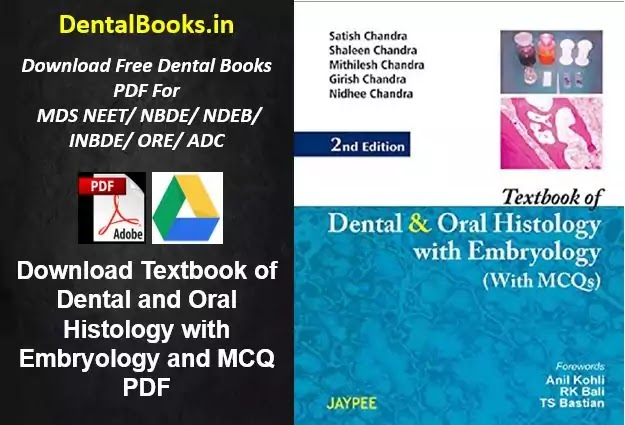 Download Textbook of Dental and Oral Histology with Embryology and MCQ PDF
