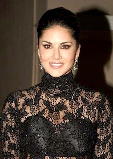 Sunny Leone hot in black dress