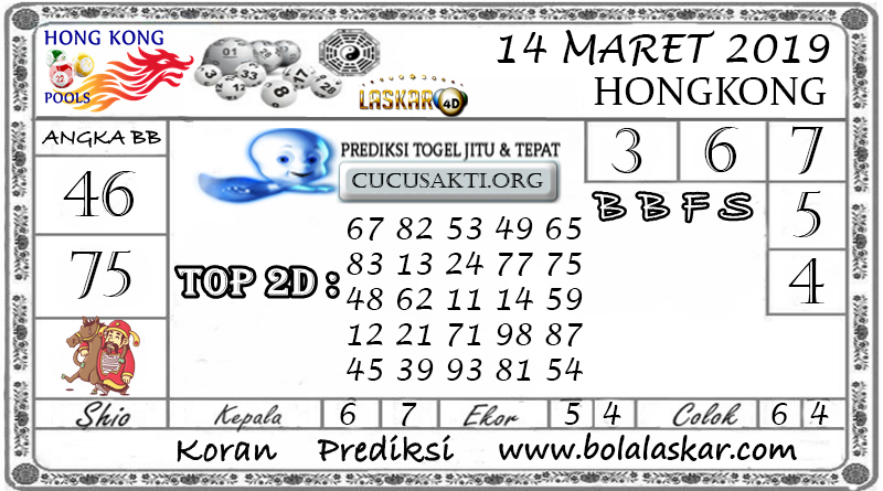 Prediksi Togel HONGKONG LASKAR4D 14 MARET 2019