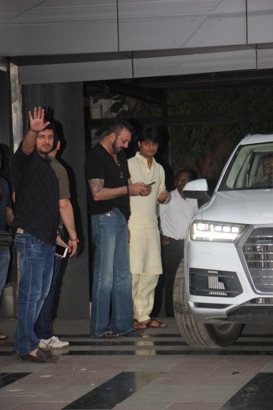 Sanjay Dutt Spotted at Legend Studio Office In Andheri