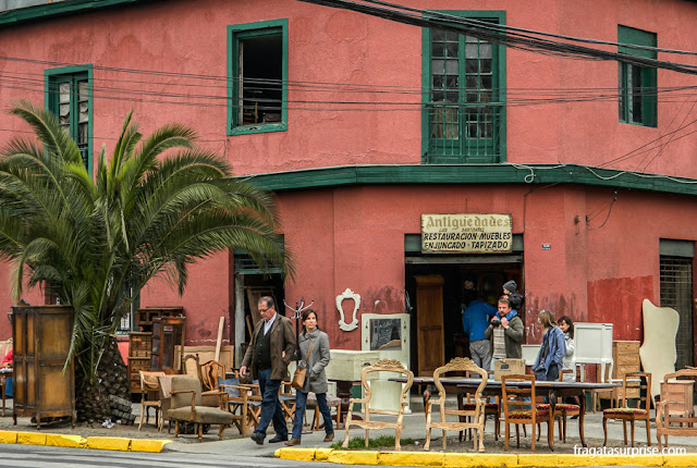 Oficina de marcenaria no Bairro Itália, Santiago