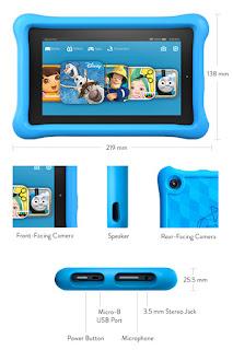 special Easter deals : £20 off Fire designed for Kids Tablet £79.99 Pink/blue case