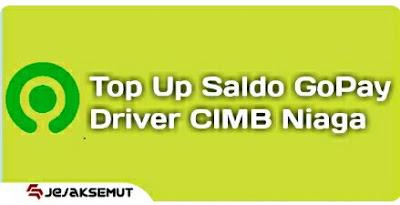 Top Up Gopay Driver CIMB