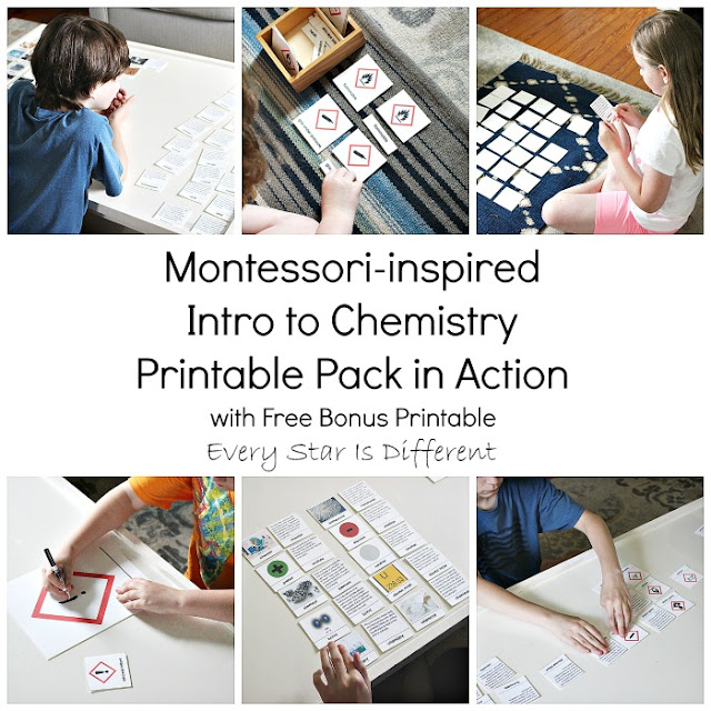 Montessori-inspired Intro to Chemistry Printable Pack in Action with Free Bonus Printable