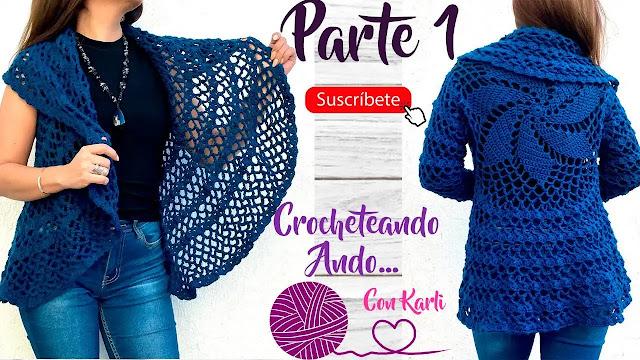 Aprende a Tejer Chaleco Circular a Crochet