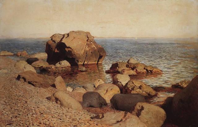 Исаак Ильич Левитан - У берега моря. Крым. 1886