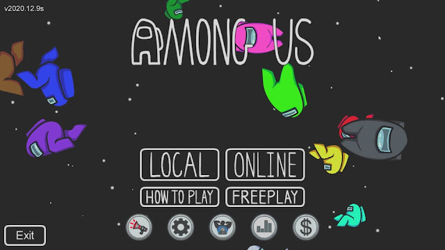 Amongusのメニュー画面画像
