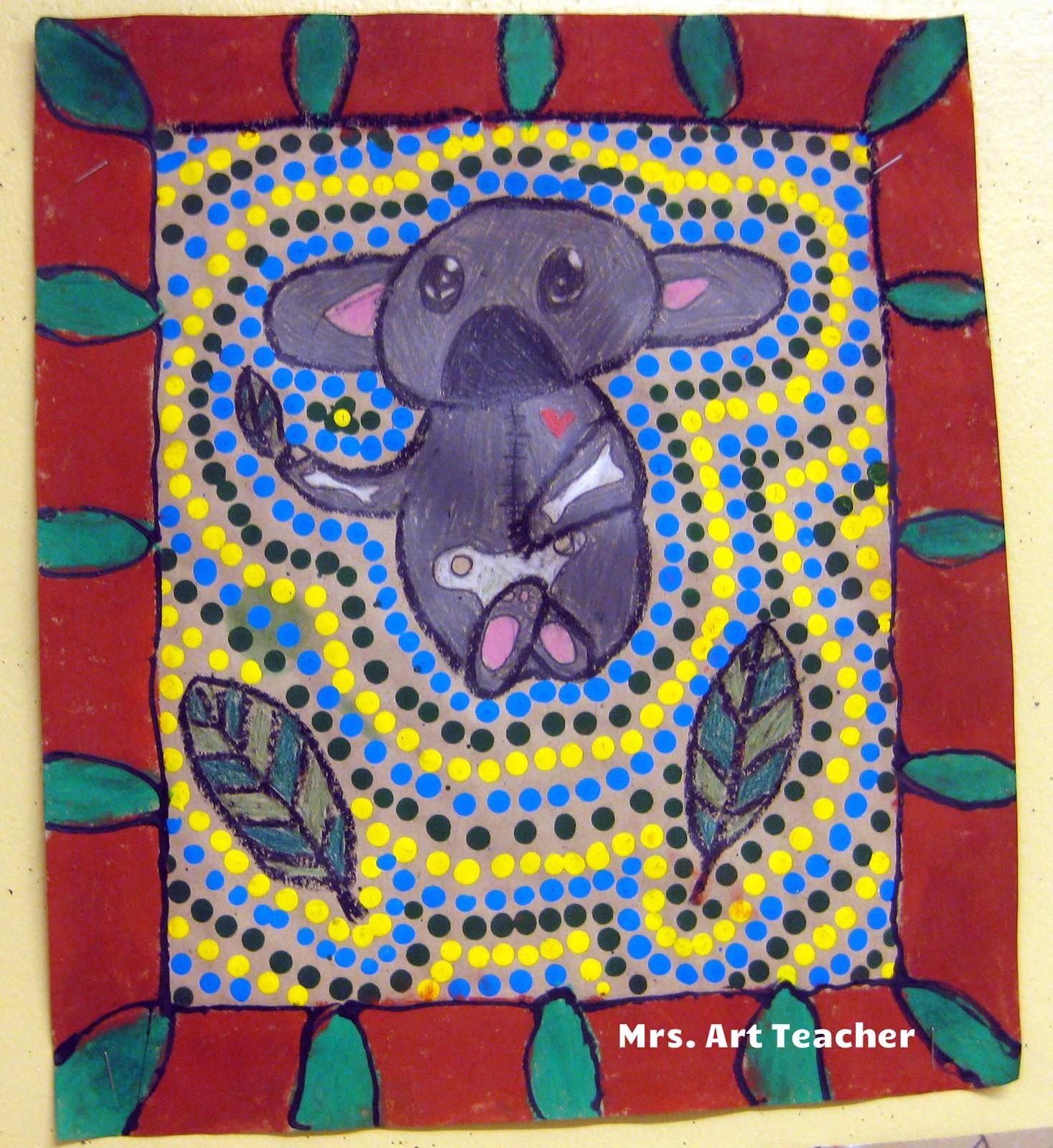 Mrs Art Teacher Australian X Ray And Dot Style Animals