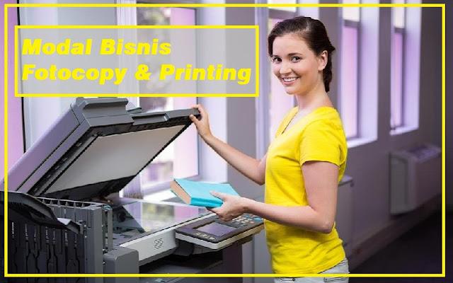 rincian modal buka usaha photocopy