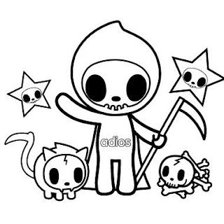 tokidoki 'til death do us part free coloring page