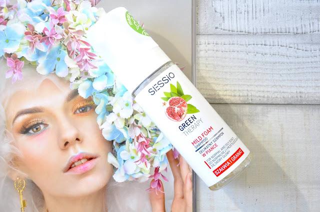recenzja szamponu w piance sessio green therapy mild foam szałwia i granat