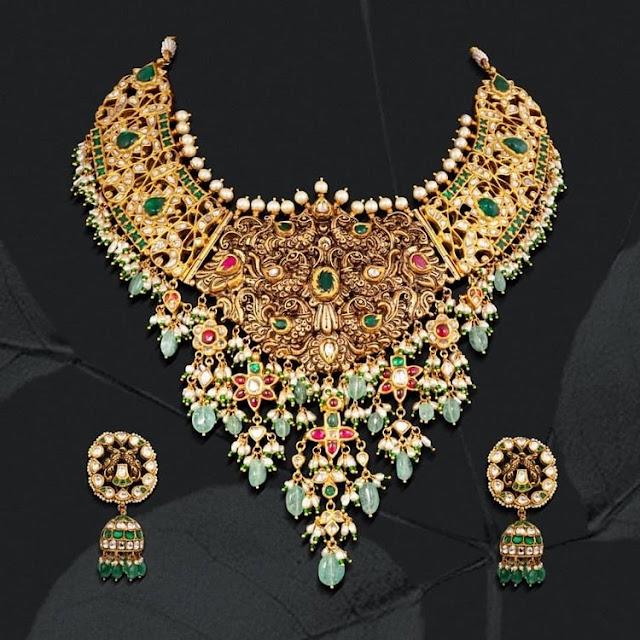 Peacock Bridal Choker by Shankarlal