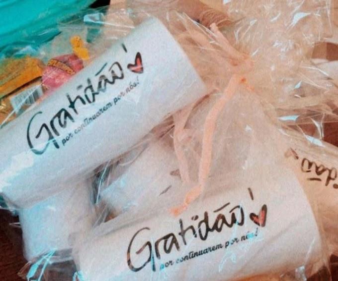 Cidadã doa brindes a servidores de barreiras sanitárias em Jacobina; 'Gratidão', disse