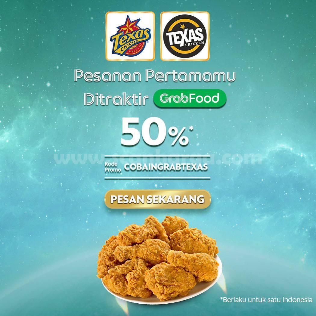 Texas Chicken Promo Diskon 50% khusus untuk Pembelian Pertama di GrabFood