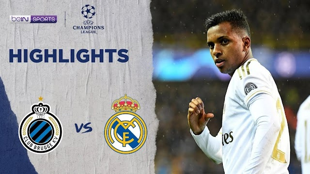 Club Brugge 1 - 3 Real Madrid champions league highlight