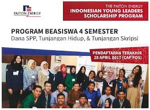 Beasiswa untuk Mahasiswa S1 PAITON IYLSP 2017