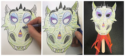 Dragon Storytime, Dragon craft, dragon mask