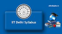 IIT Delhi Syllabus