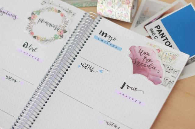 Bullet journal: planifica tu trimestre, organiza tu estación