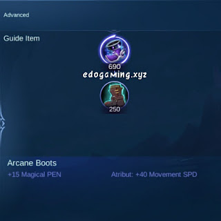 penjelasan lengkap item mobile legends item arcane boots