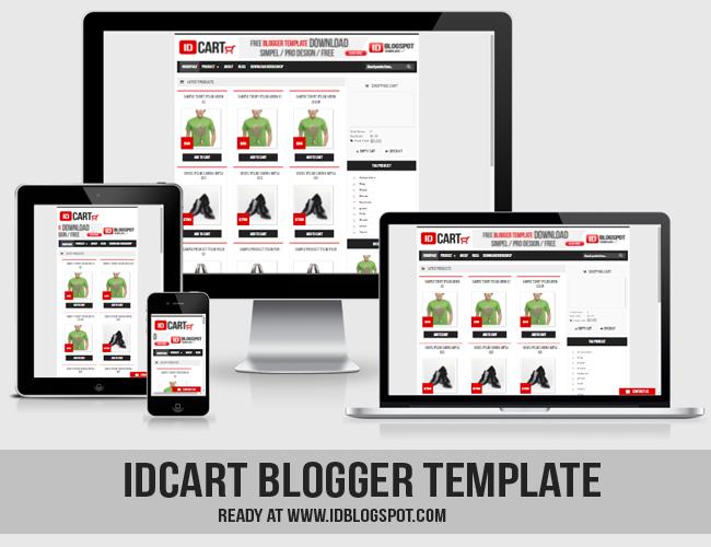 IDCART,Template Toko Online Blogger Responsive