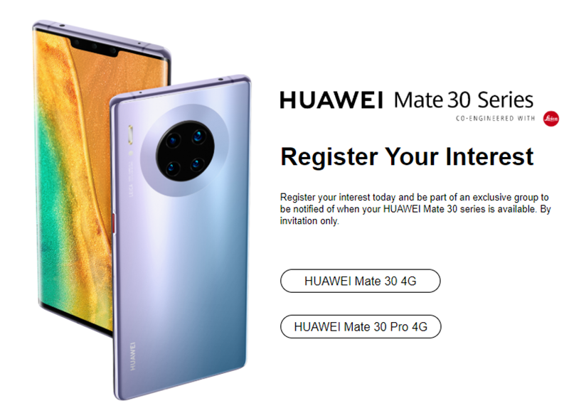 Huawei opens pre-order registration for Mate 30 Series